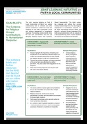 Key Messages: Evidence for Religious Groups' Contributions to Humanitarian Response