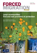 Sept 2016 Forced Migration Review- Local communities: first and last providers of protection
