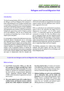 Refugee and Forced Migration Policy Note