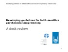 Developing Guidelines for Faith-sensitive Psychosocial Programming