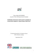 Case study with ABAAD as part of the UK-Aid funded 'Working effectively with faith leaders to challenge harmful traditional practices'