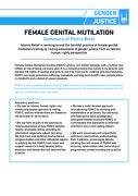 FEMALE GENITAL MUTILATION – Summary of Policy Brief