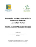 Empowering Local Faith Communities in Humanitarian Response: Lessons from the Field