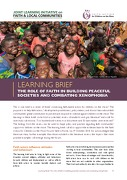 Learning Brief: The role of faith in building peaceful societies and combating xenophobia