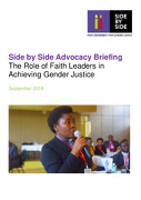 Side by Side Advocacy Briefing The Role of Faith Leaders in Achieving Gender Justice