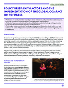 Policy Brief: Faith Actors and the  Implementation of The Global Compact  on Refugees