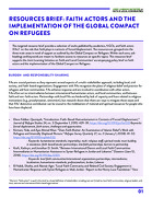 Resource Brief: Faith Actors and the Implementation of The Global Compact on Refugees