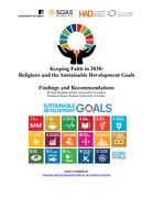 Keeping Faith in 2030: Religions and the Sustainable Development Goals, Findings and Recommendations