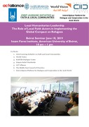 Event Report – Local Humanitarian Leadership Seminar in Beirut – The Role of Local Faith Actors in Implementing the Global Compact on Refugees