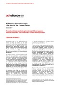 ACT Alliance EU Position Paper – Food Security and Climate Change