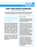 EARLY AND FORCED MARRIAGES – Summary of Policy Brief