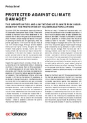 Policy Brief – PROTECTED AGAINST CLIMATE DAMAGE?