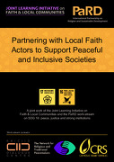Partnering with Local Faith Actors to Support Peaceful and Inclusive Societies
