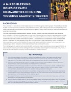 A Mixed Blessing: Roles of faith communities in ending violence against children