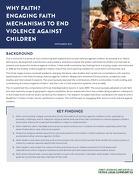 Why faith? Engaging faith mechanisms to end violence against children