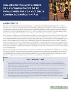 UNA BENDICIÓN MIXTA: ROLES DE LAS COMUNIDADES DE FE PARA PONER FIN A LA VIOLENCIA CONTRA LOS NIÑOS Y NIÑAS