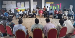 Large group discussions during the WorkRock