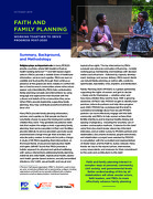 Faith and Family Planning: Working Together to Drive Progress Post 2020