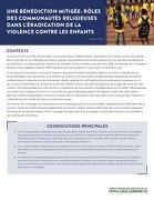 Une Bénédiction Mitigée: Rôles Des Communautés Religieuses Dans L'éradication De La Violence Contre Les Enfants