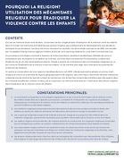 Pourquoi La Religion? Utilisation Des Mécanismes Religieux Pour Éradiquer La Violence Contre Les Enfants