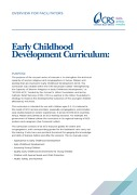 Early Childhood Development Curriculum