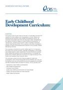 Early Childhood Development Curriculum