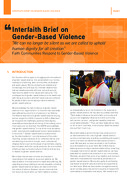 Interfaith Brief on Gender-Based Violence