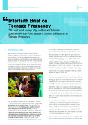 Interfaith Brief on Teenage Pregnancy