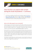 How churches can support older people during the Covid-19 pandemic – a summary