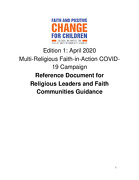 Multi-Religious Faith-in-Action COVID-19 Initiative Reference Document for Religious Leaders and Faith Communities Guidance, Ed 1, April 2020