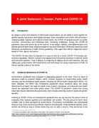 A Joint Statement: Gender, Faith and COVID-19