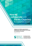 How to collaborate with Pacific Churches for development research